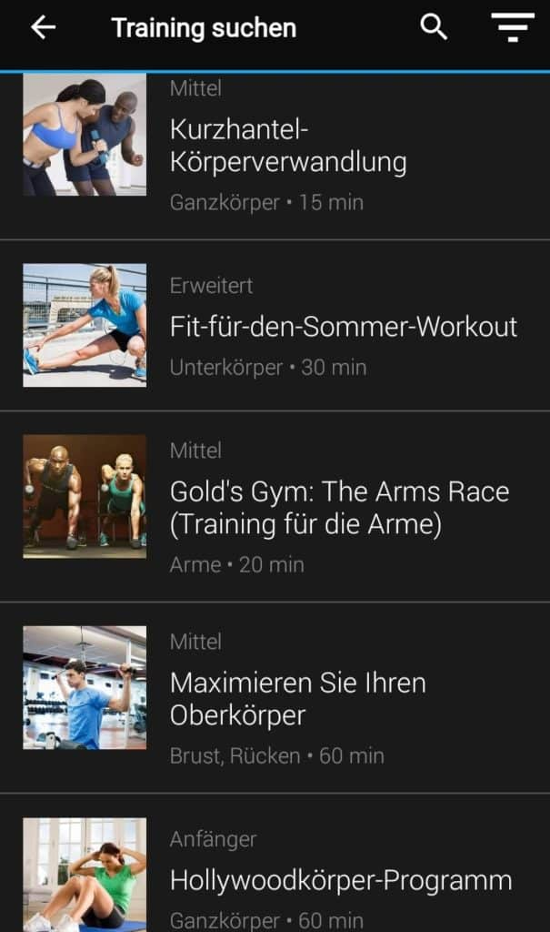 Garmin Connect Workouts