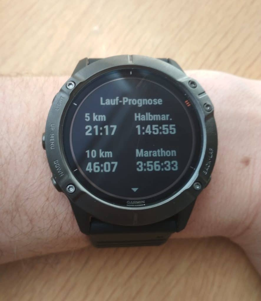 Laufprognose Garmin Fenix 6