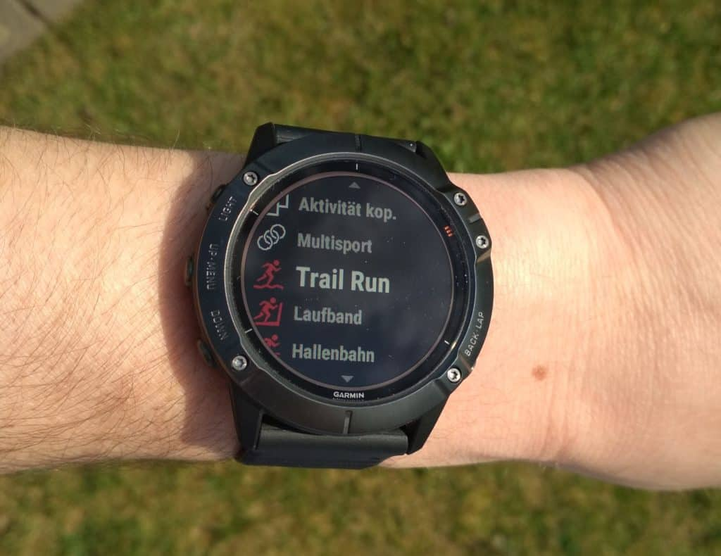 Trainingsmodus Garmin Fenix 6