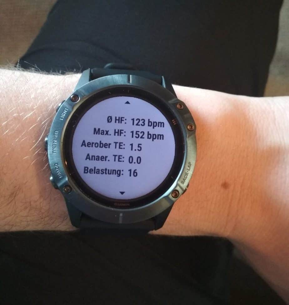 Trainingsstatistiken Garmin Fenix 6
